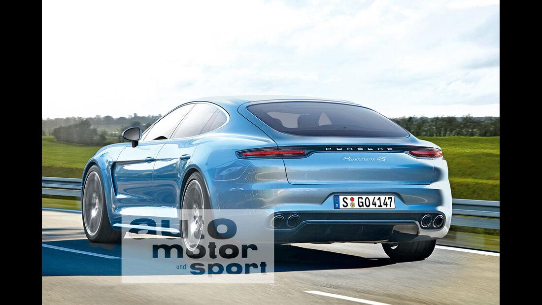 Porsche Panamera, Heckansicht