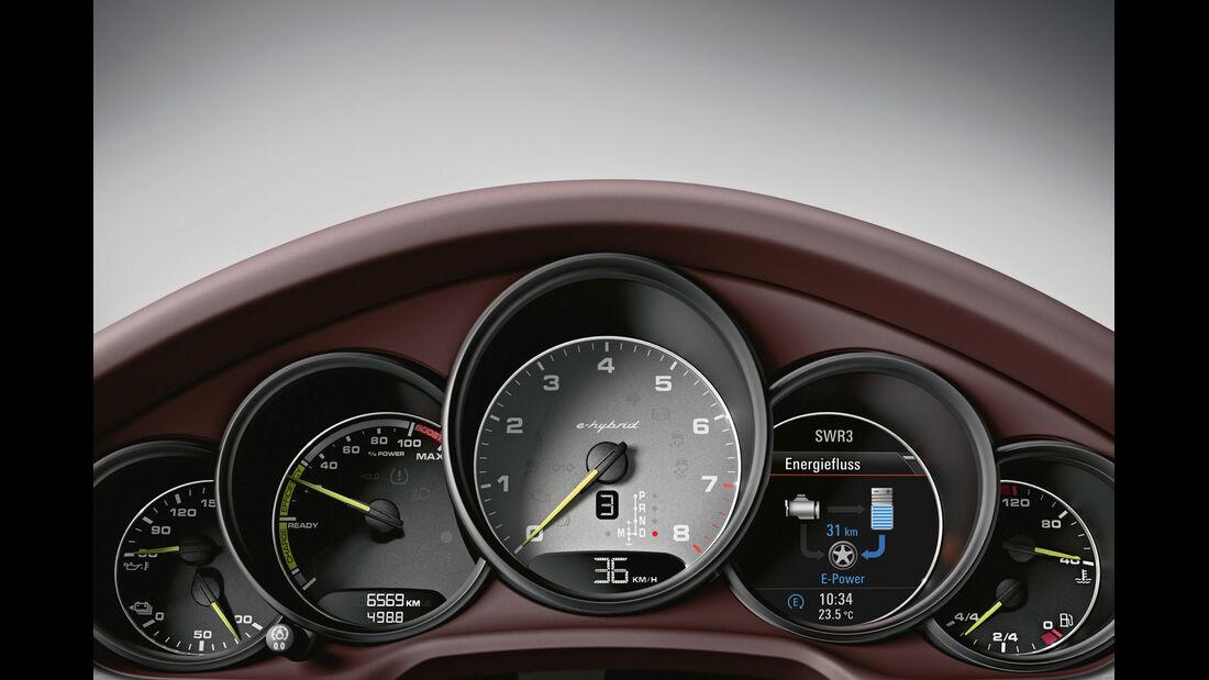 Porsche Panamera Plug-in-Hybrid, Rundinstrumente
