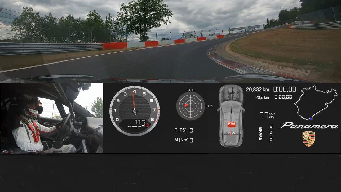 Porsche Panamera Rekordfahrt