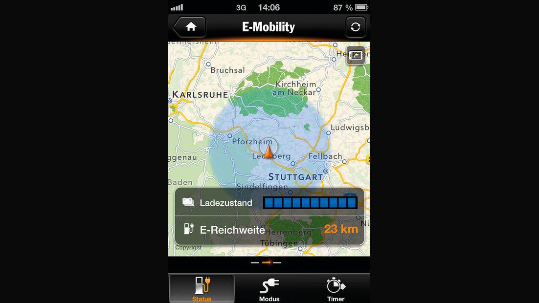 Porsche Panamera S E-Hybrid, App, Navi