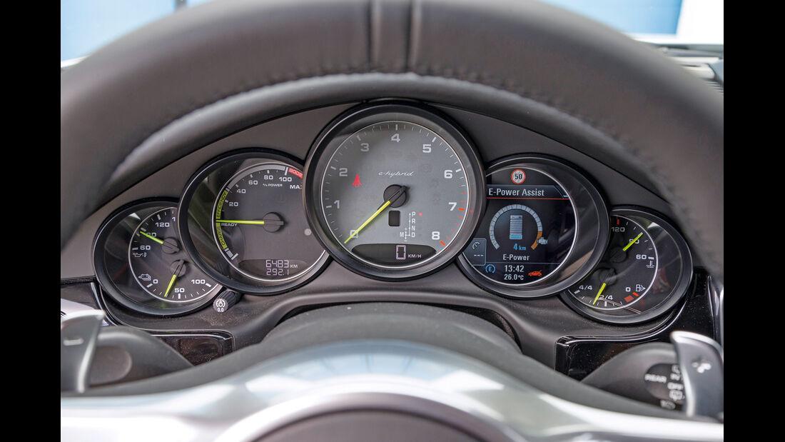 Porsche Panamera S E-Hybrid, Rundinstrumente