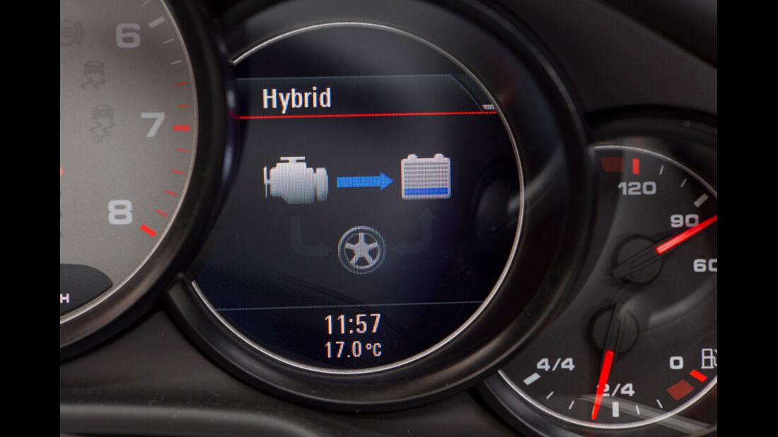 Porsche Panamera S Hybrid, Anzeige, Hybrid, Detail