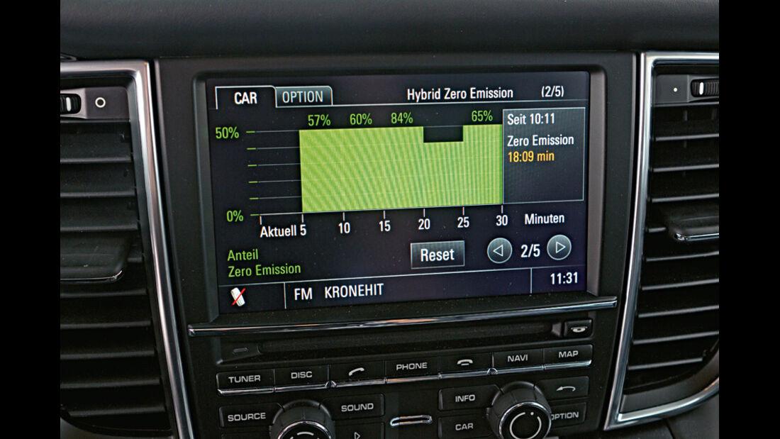 Porsche Panamera S Hybrid, Detail, Bildschirm, Boardcomputer