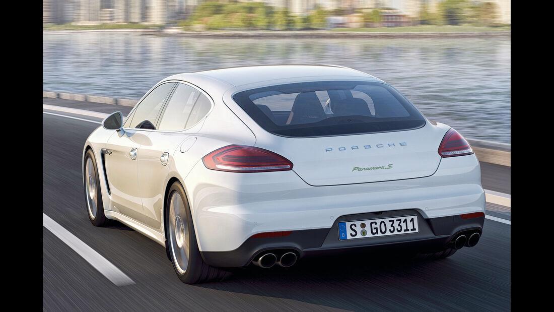Porsche Panamera S Hybrid, Heckansicht