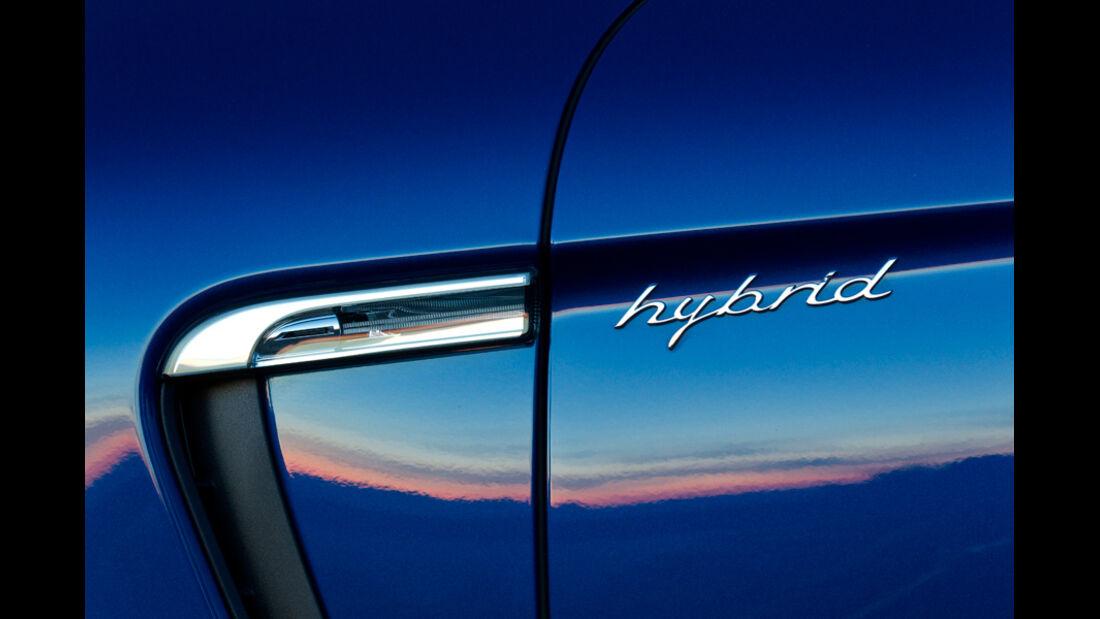 Porsche Panamera S Hybrid, Schriftzug, Hybrid, Detail