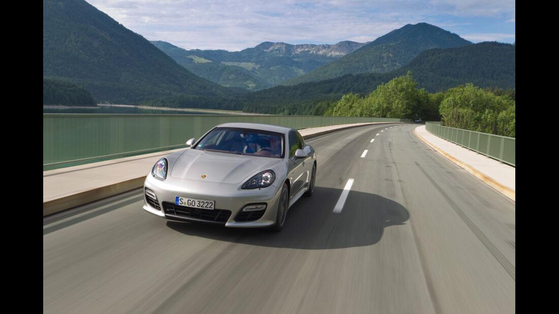 Porsche Panamera Tubo S, Frontansicht, Stausee