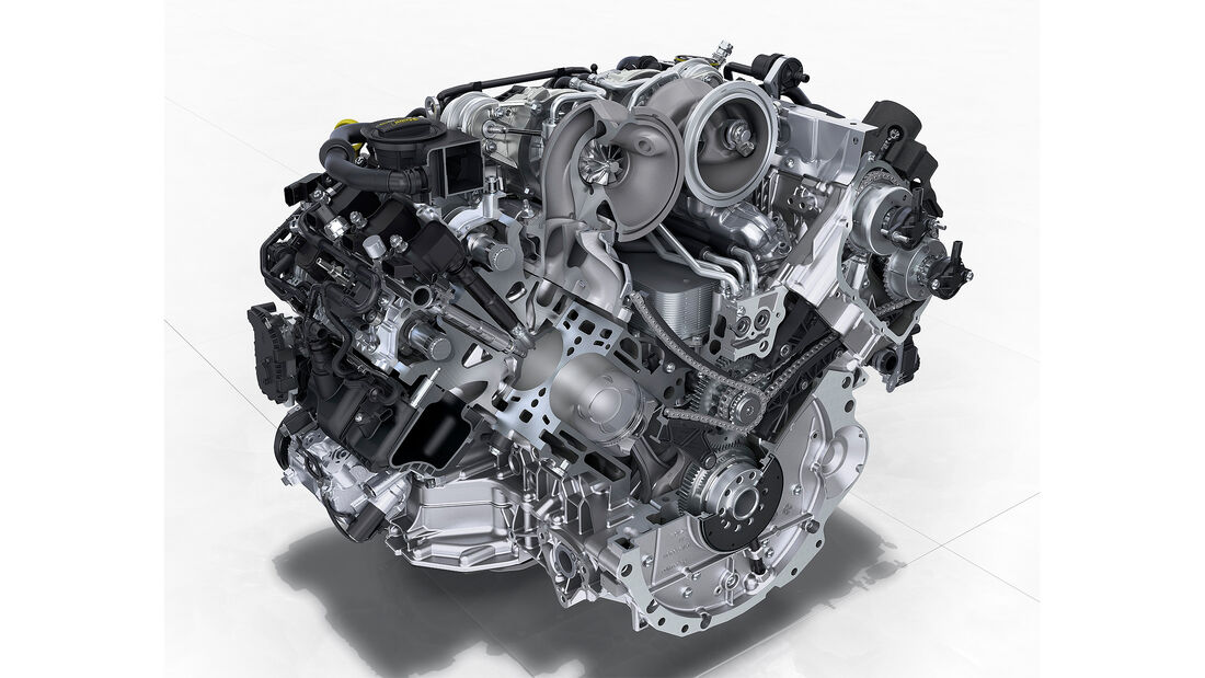 Porsche Panamera Turbo: 4,0-Liter-V8-Biturbomotor mit 550 PS