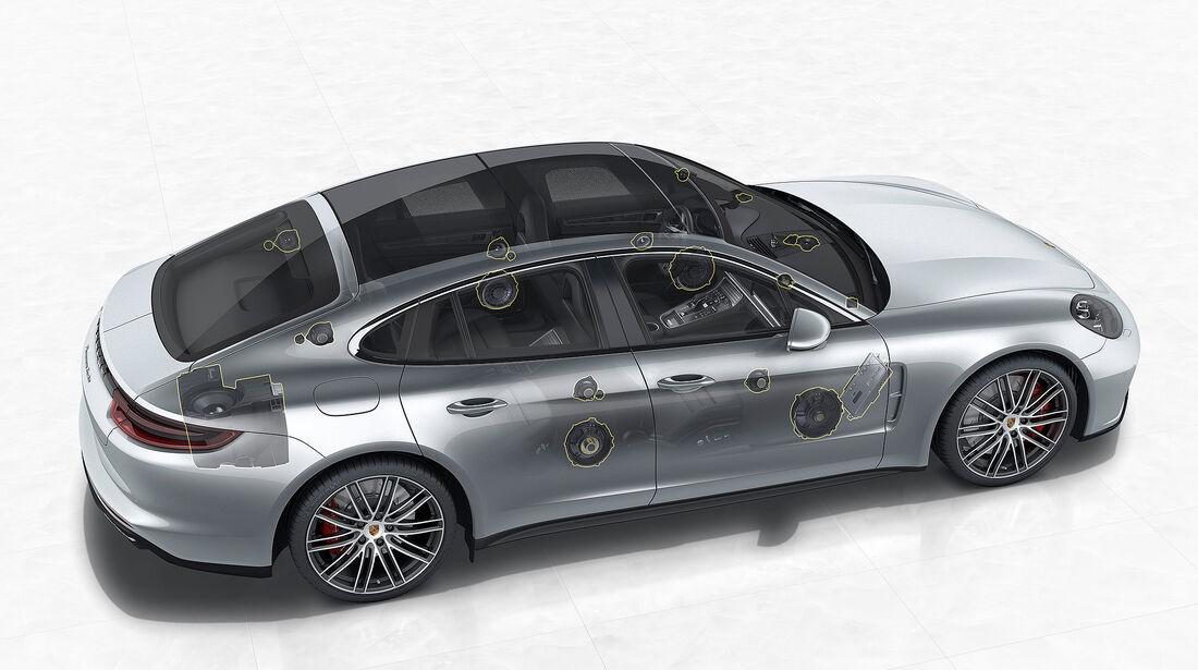 Porsche Panamera Turbo: Burmester 3D High-End Surround Sound System