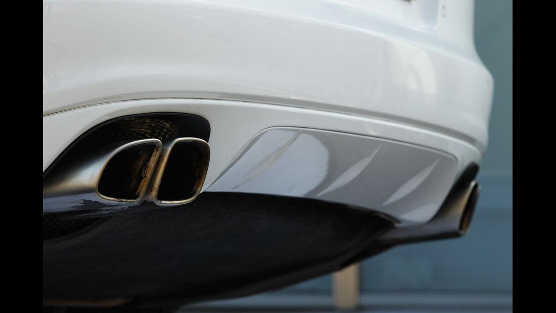 Porsche Panamera Turbo S, Auspuff, Endrohre