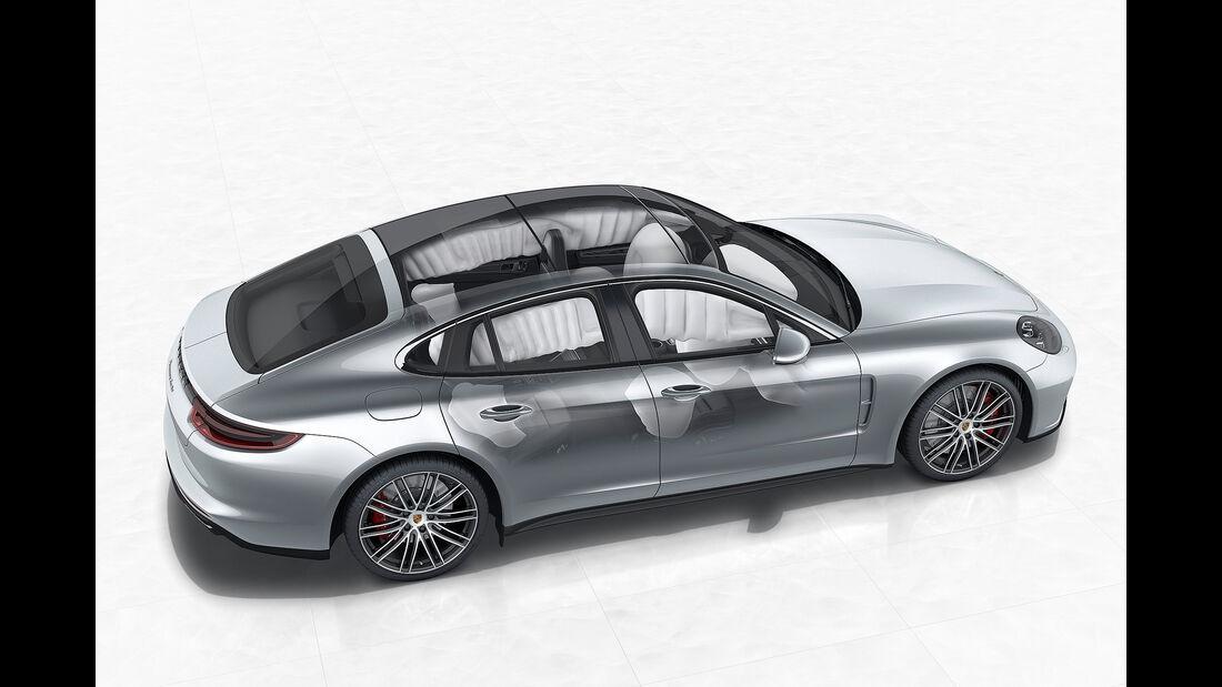 Porsche Panamera Turbo: Side Impact Protection System (POSIP)