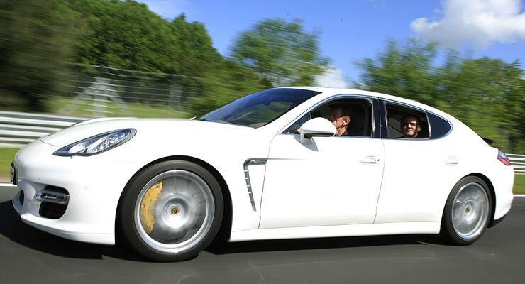 Porsche Panamera Turbo Walter Röhrl Horst von Saurma