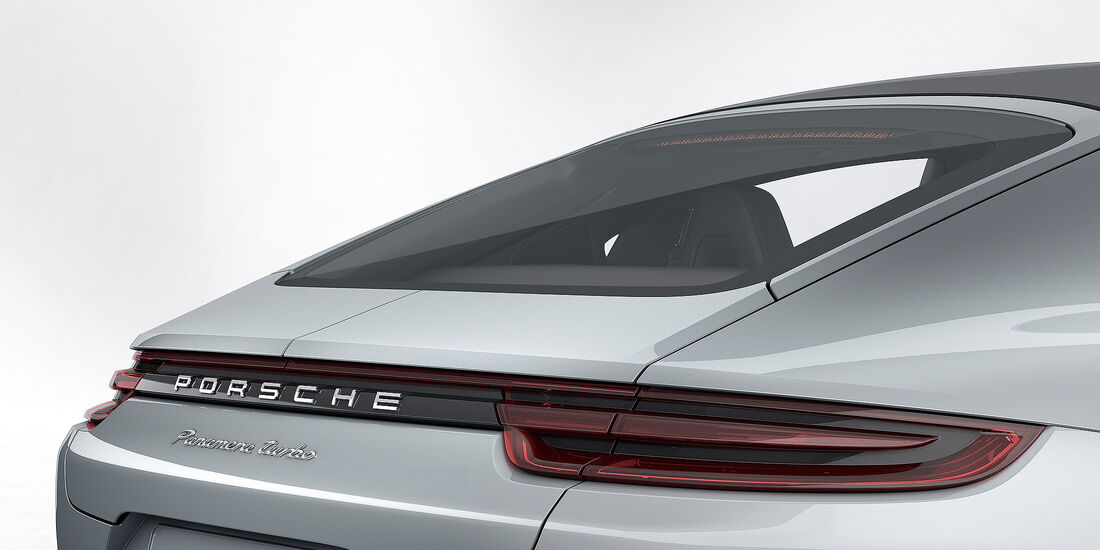 Porsche Panamera Turbo: adaptiver 4-Wege-Heckspoiler eingefahren