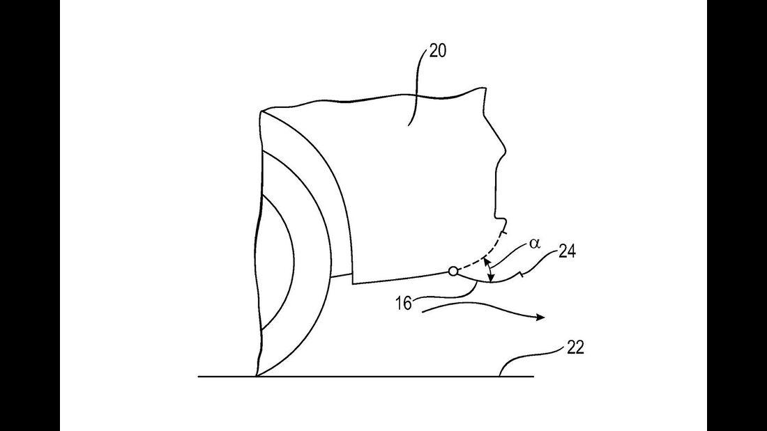 Porsche Patentzeichnungen aktiver Diffusor