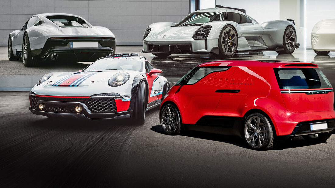 Porsche Prototypen Collage
