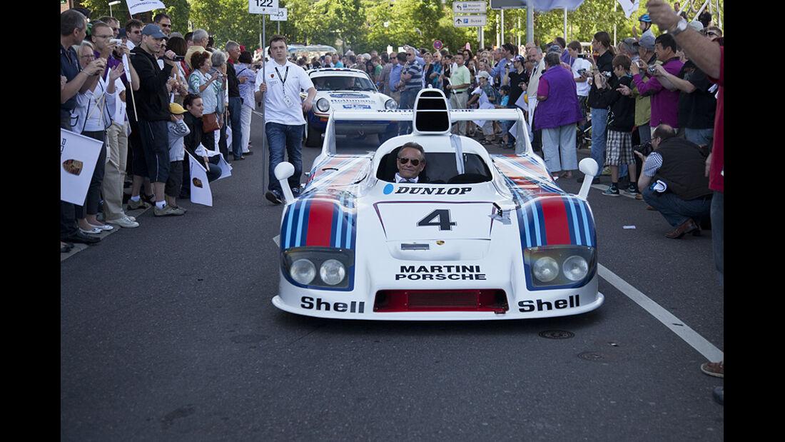 Porsche Rennwagen mit Jackie Ickx