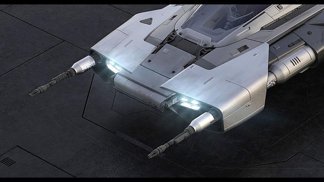 Porsche Star Wars Tri-Wing S-91x Pegasus Starfighter