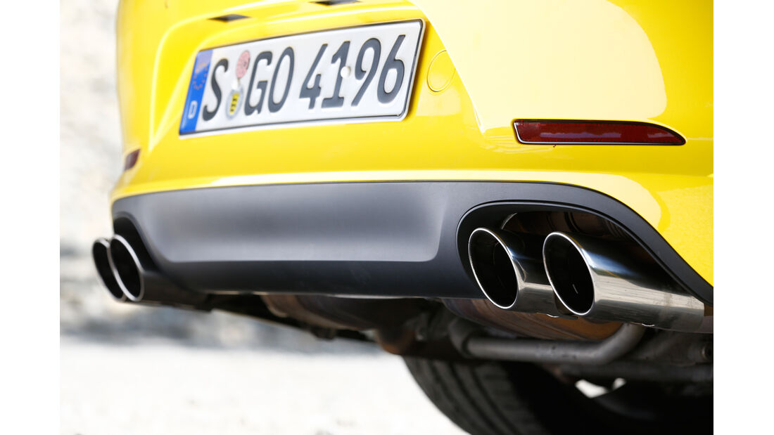 Porsche Targa 4S, Auspuff, Endrohre