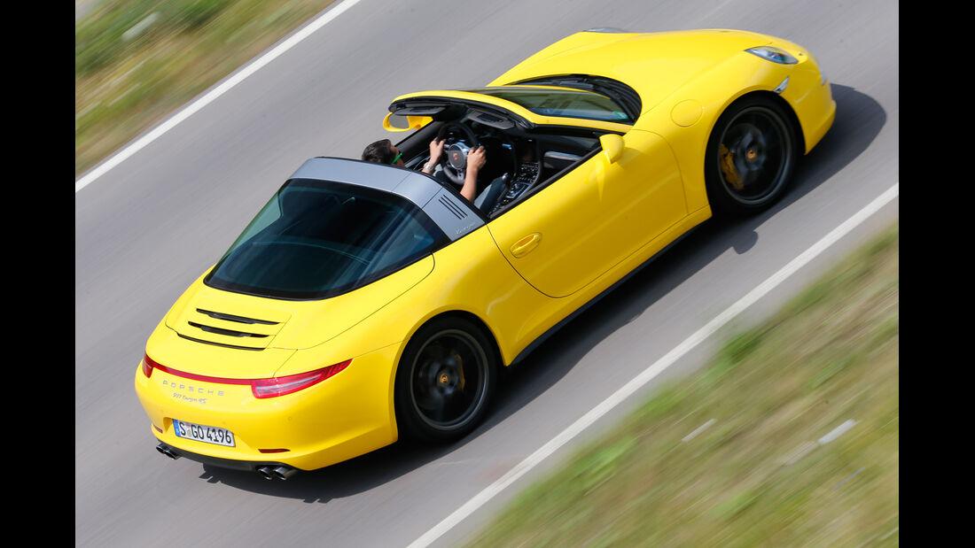 Porsche Targa 4S, Seitenansicht