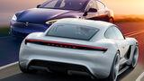 Porsche Taycan Tesla Model S Vergleich Retusche