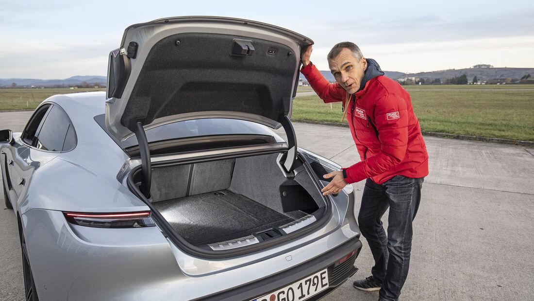 Porsche Taycan Turbo S, Kofferraum