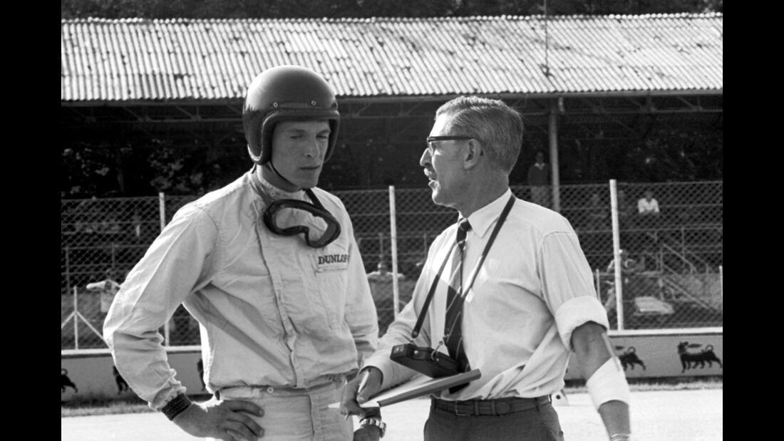 Porsche-Team-Manager - Fritz Huschke von Hanstein - Dan Gurney - Porsche - GP Italien 1962 - Monza