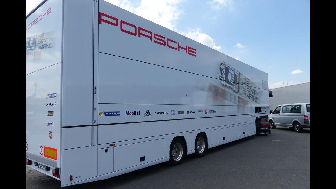 Porsche-Truck - Formel 1 - GP Deutschland - Hockenheim - 16. Juli 2014