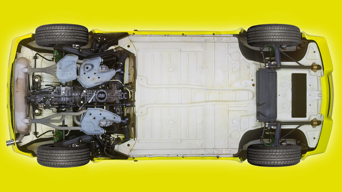 Porsche Unterboden Fotografie