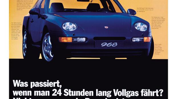 Porsche-Werbung 968 Jung von Matt