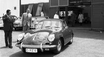 Porsche-Werksabholung 356 B Coupé Harald Wagner Alfried Krupp 1957