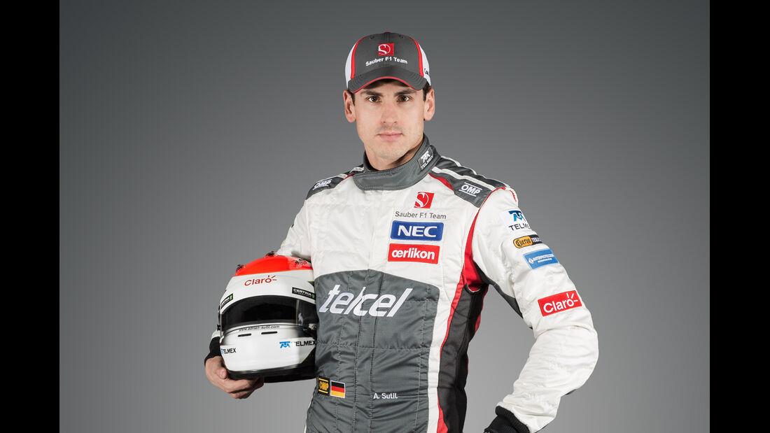 Porträt Adrian Sutil - Formel 1 2014