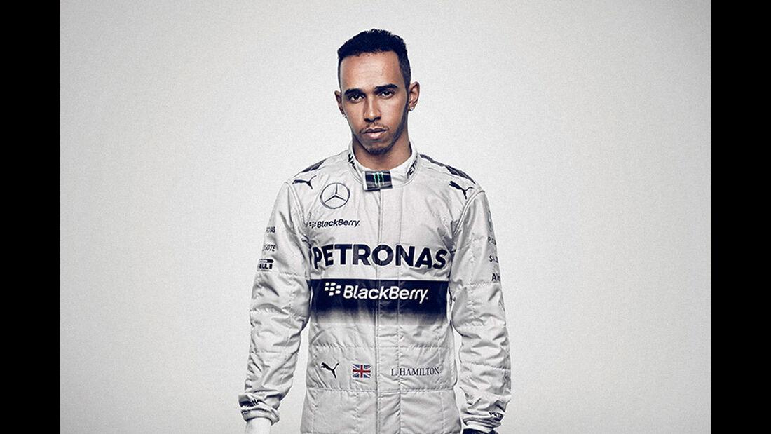 Porträt Lewis Hamilton - Formel 1 2014