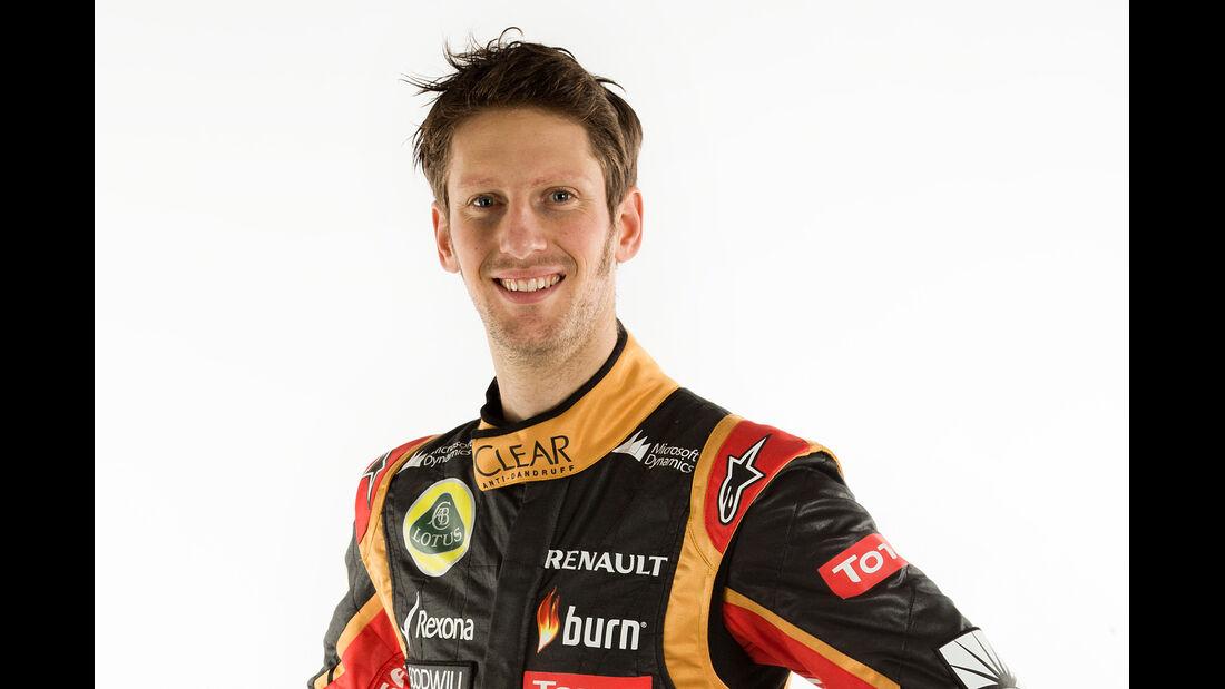 Porträt Romain Grosjean - Formel 1 2014