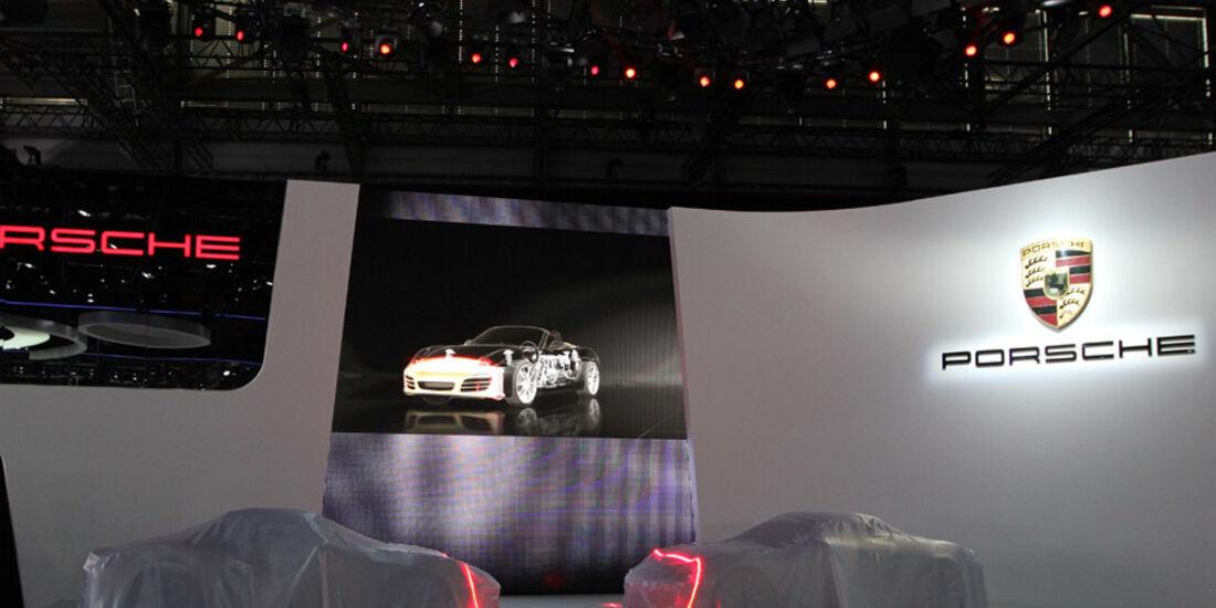 Präsentation Porsche Boxster, Autosalon Genf 2012, Messe