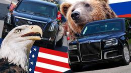 Präsidenten-Limousinen Collage