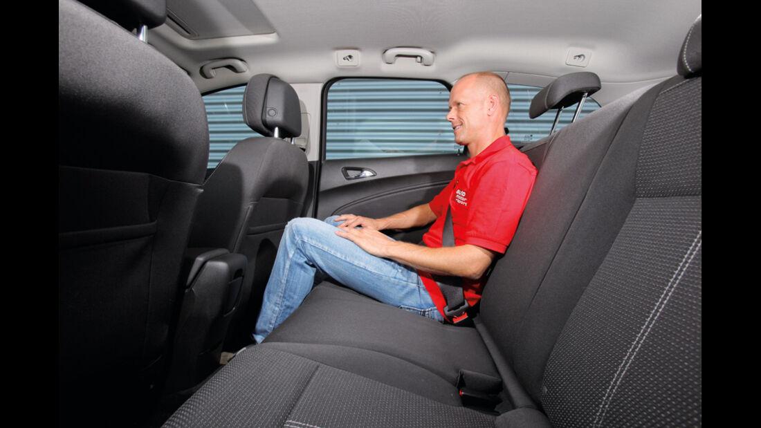 Praxistest, Opel Astra Sportstourer 1.4 Turbo, Fond