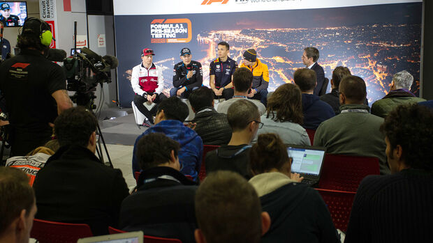 Pressekonferenz - F1-Testfahrten - Barcelona - 2020