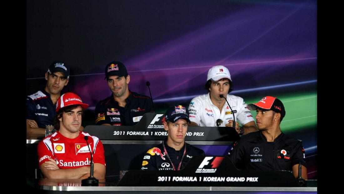 Pressekonferenz   - Formel 1 - GP Korea - 13. Oktober 2011