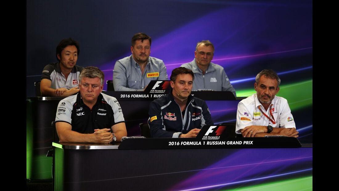Pressekonferenz  - Formel 1 - GP Russland - 29. April 2016