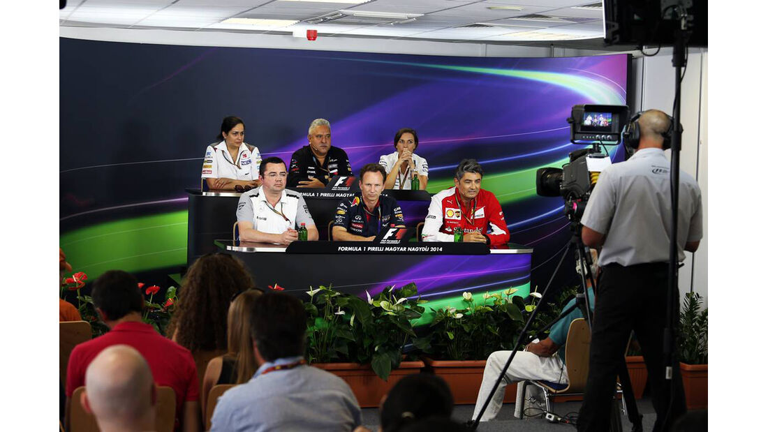 Pressekonferenz - Formel 1 - GP Ungarn - 25. Juli 2014
