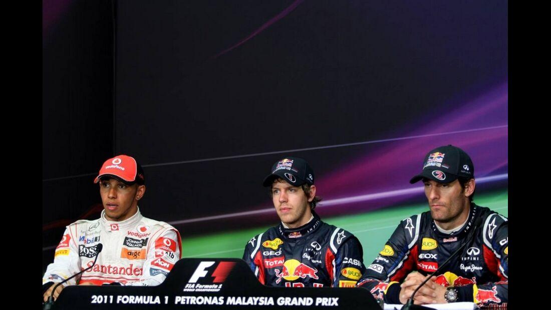 Pressekonferenz GP Malaysia 2011 Formel 1