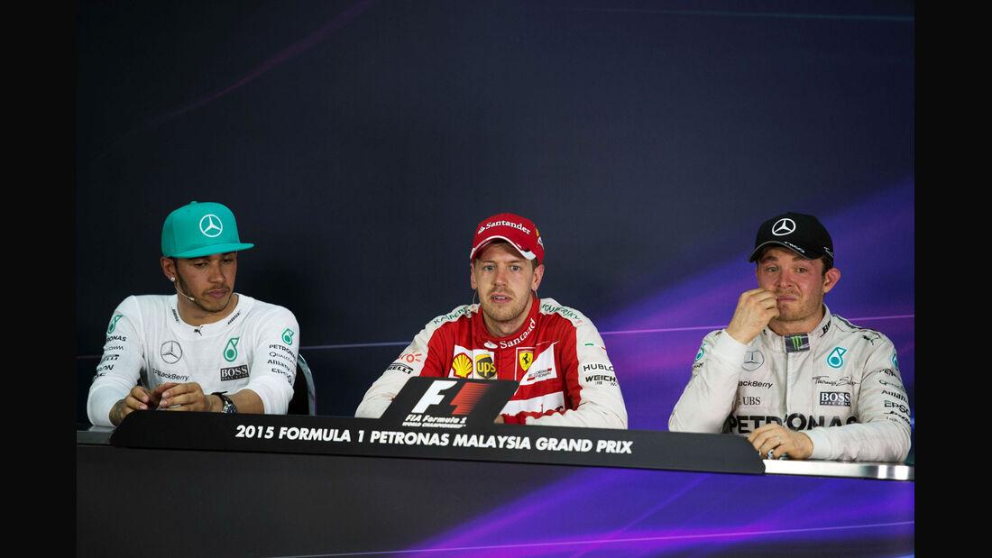 Pressekonferenz - GP Malaysia 2015 - Formel 1