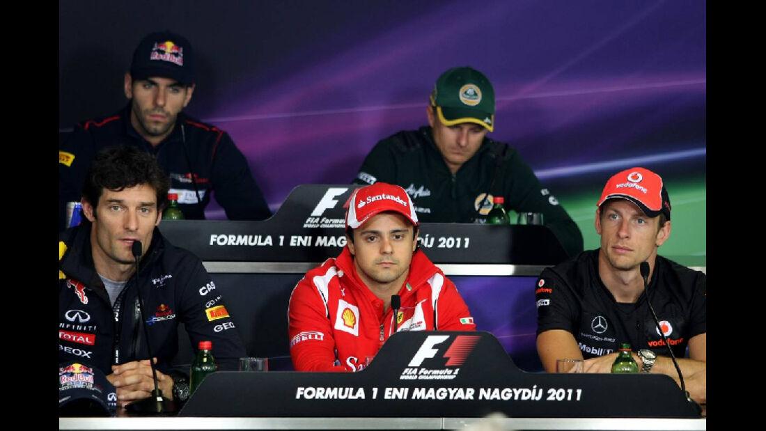 Pressekonferenz - GP Ungarn - Formel 1 - 28.7.2011