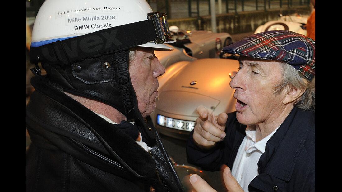 Prinz Leopold v. Bayern und Jackie Stewart auf der Mille Miglia 2010