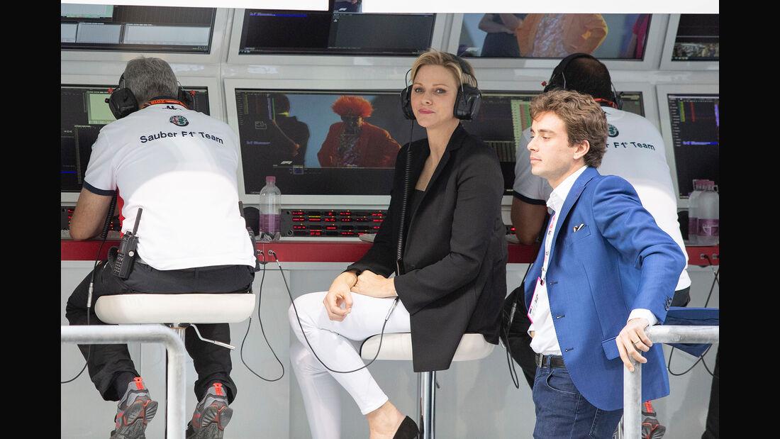 Prinzessin Charlene von Monaco & Charles Leclerc - Formel 1 - GP Abu Dhabi  -24. November 2018
