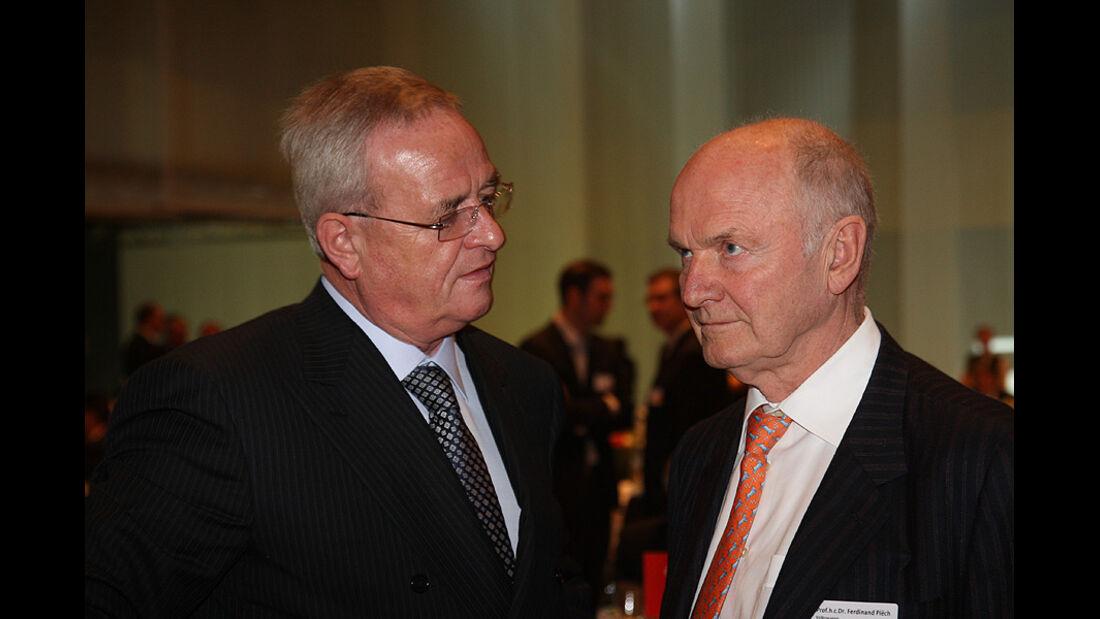 Prof. Dr. Martin Winterkorn (li.), Vorstandsvorsitzender VW, Prof. Dr. Ferdinand Piech, Aufsichtsratsvorsitzender VW