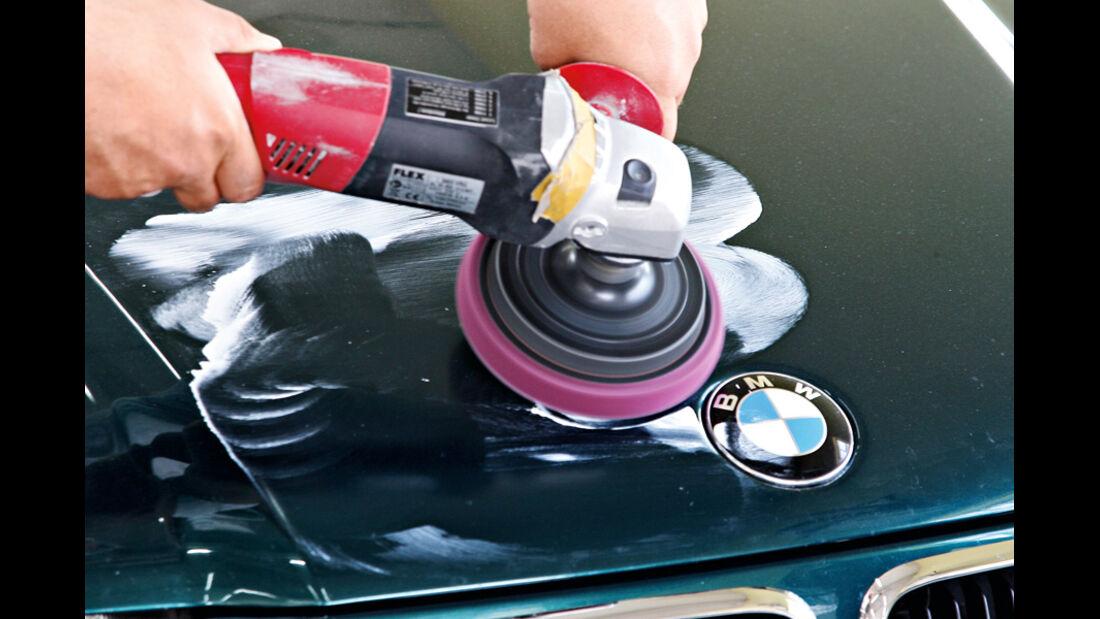 Professionelle Fahrzeugaufbereitung, Beispiel BMW