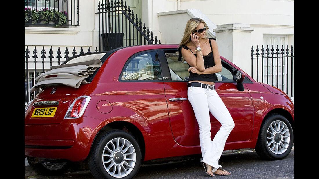 Promi-Autos, Fiat 500, Elle McPherson