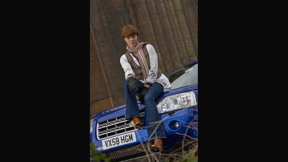 Promi-Autos, Land Rover, Jessica Schwarz