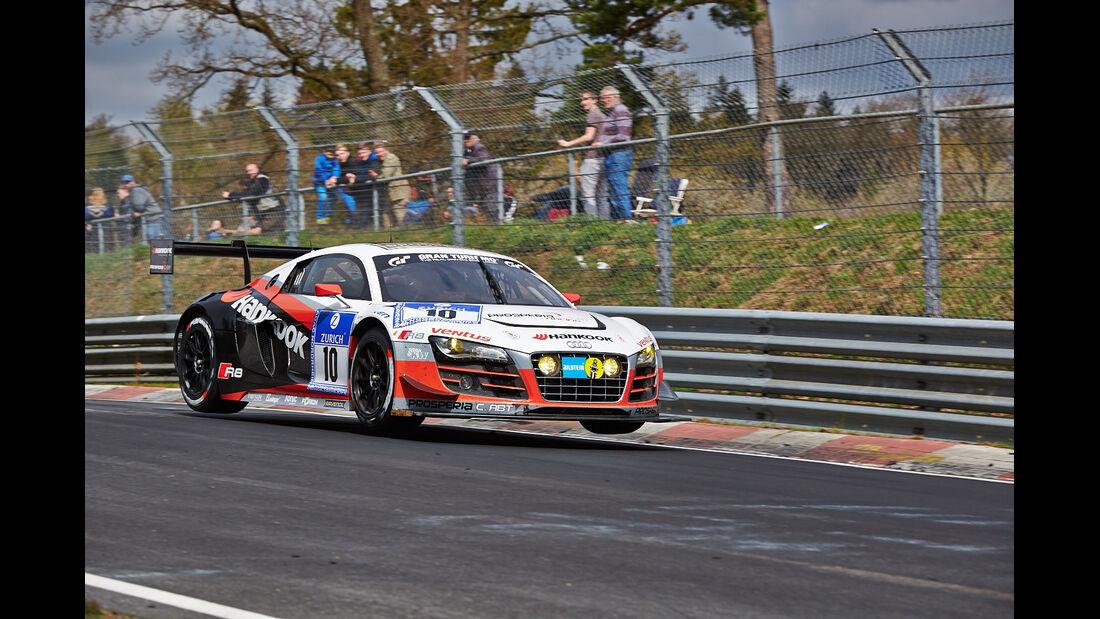 Prosperia Abt #10 Audi R8 LMS ultra - 24h Qualirennen - Nürburgring Nordschleife - 06. April 2014
