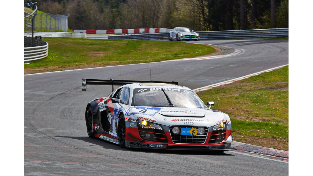 Prosperia Abt #9 Audi R8 LMS ultra - 24h Qualirennen - Nürburgring Nordschleife - 06. April 2014